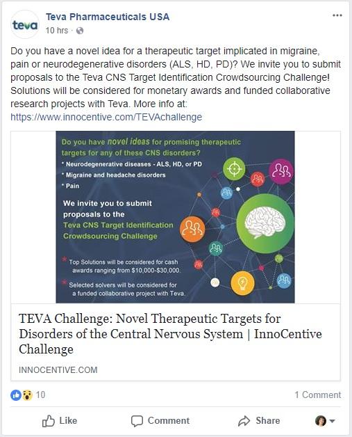 TEVA CNS disorder challenge