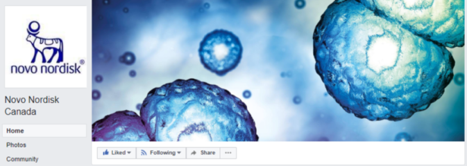 FB cover - Novo Nordisk Canada - no posts just ads