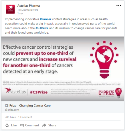 Astellas - Changing Cancer Care - LI post 3