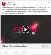 Astellas - FB - Changing Cancer Care Prize - FB ad 2