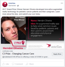 Astellas - FB - Changing Cancer Care Prize - FB ad 3